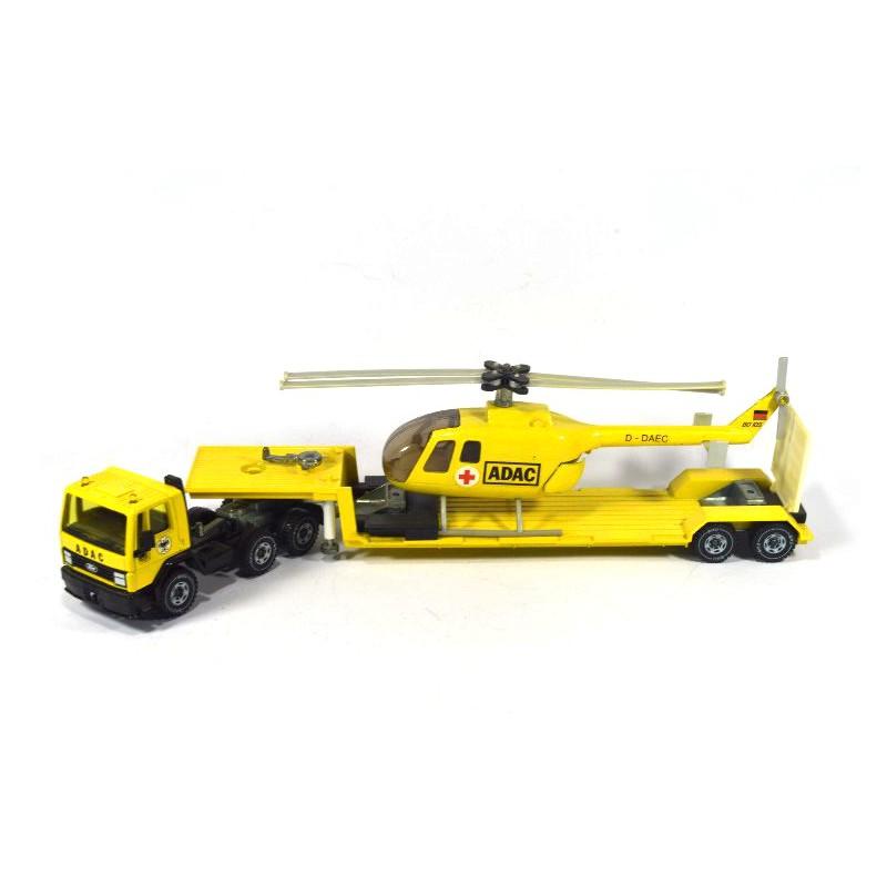 Siku 3719 Ford Cargo Mit Tieflader Und Hubschrauber ADAC