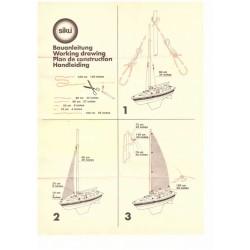 Construction manual sailboat at low loader