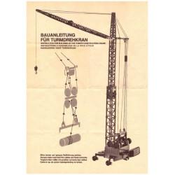 Construction manual tower crane