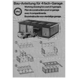 Construction manual for 4-set garage