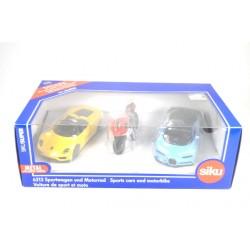 Sportwagen und Motorrad-Set