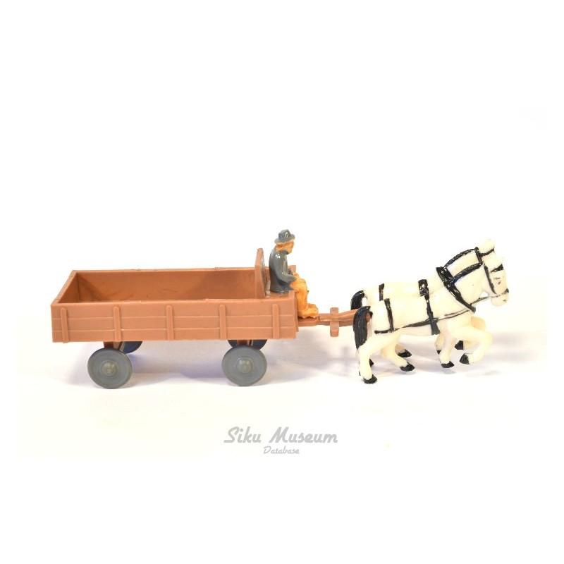 Wagen met twee paarden