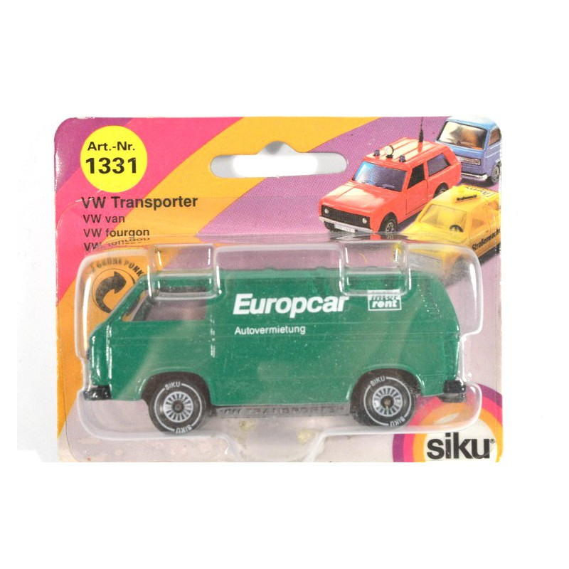 siku 1331 volkswagen transporter europcar online siku museum. Black Bedroom Furniture Sets. Home Design Ideas