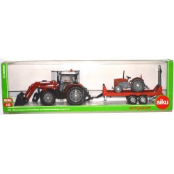 Massey Ferguson met tandemaanhanger en tractor