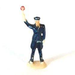 Verkehrspolizist, mit Kelle