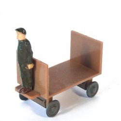 Man on electrical cart
