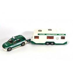 Mercedes ML 320 Polizei with caravan