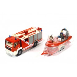 MAN TGA Rosenbauer fire engine with rescue boat