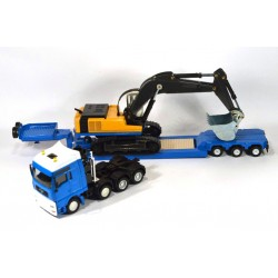 MAN heavy loader with excavator