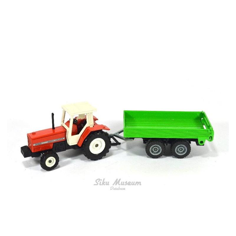 Massey Ferguson with trailer