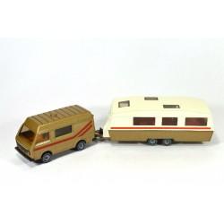 Volkswagen LT 28 camper with caravan