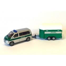 Volkswagen Transporter T5 with horse trailer Polizei