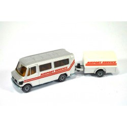 Mercedes 208 bus with trailer