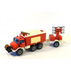 Mercedes Unimog 406 fire engine with trailer