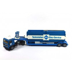 Volvo F12 with low loader and ARAL petrol station