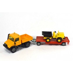 Mercedes Unimog 140 with trailer and tipper