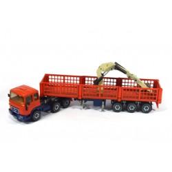 MAN 8156 F trailer with crane