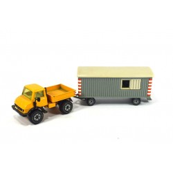 Mercedes Unimog 406 with construction trailer