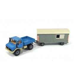 Mercedes Unimog 1500 with construction trailer