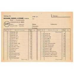 Händler Preisliste 1954