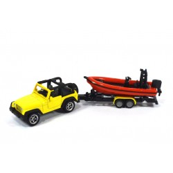 Jeep Wrangler with boat