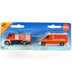 Unimog met Mercedes Sprinter Pompiers