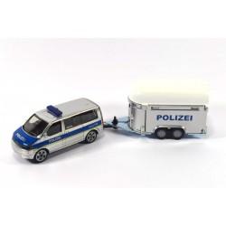Volkswagen Transporter T5 Facelift met paardentrailer Polizei
