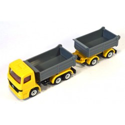 Mercedes tipping truck with trailer