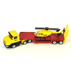 Scania dieplader met helicopter