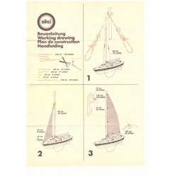 Construction manual sailboat at low loader