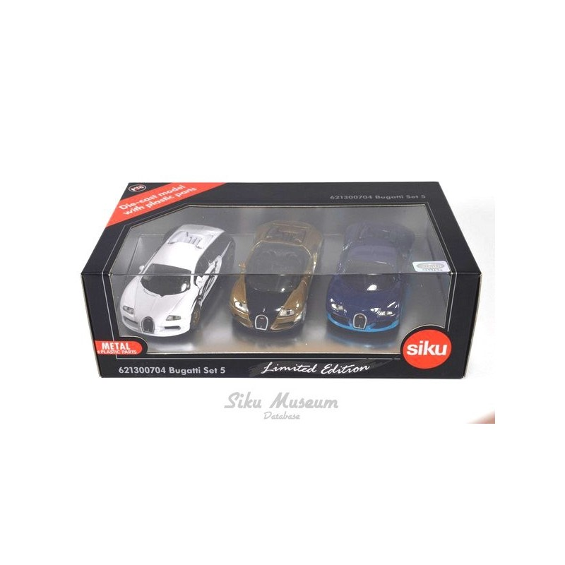 Category/car Reviews >> Siku 621300704 Bugatti Veyron 3-pack E