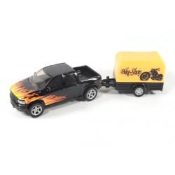 Dodge Ram pickup with trailer