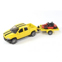 Dodge Ram with trailer and kart